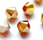 Crystal Metallic Sunshine 2x - 4 mm