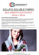 Solufix Soluble Fabric