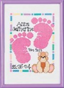 Baby Footprints Birth Announcement